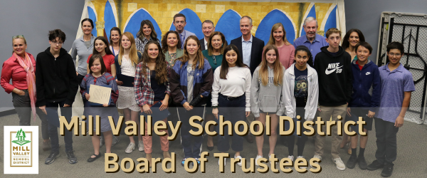8th grade students recognized by board