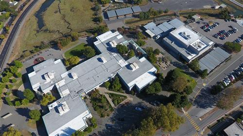 middle school campus from above