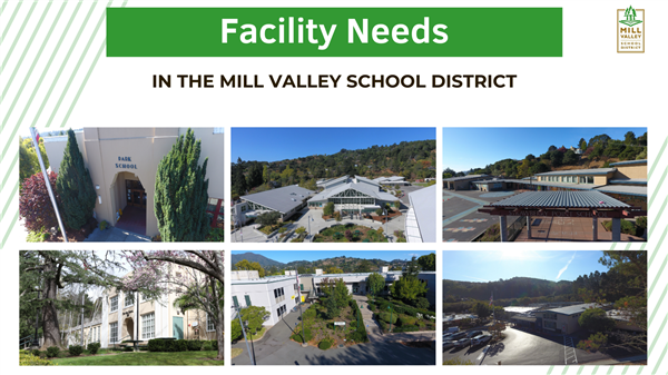 Facility Needs in the Mill Valley School District with photos of all 6 schools