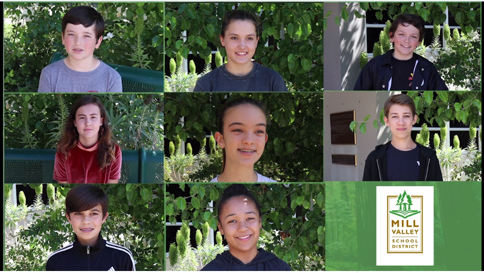 Mill Valley Middle School students featured in the video