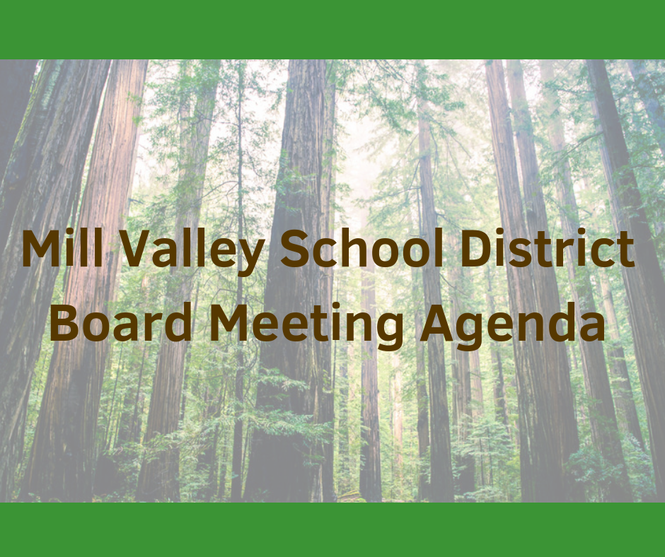Mill Valley School District Board Meeting Agenda