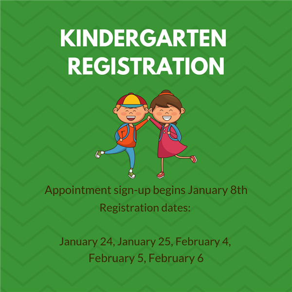 Kindergarten registration appointments are now available