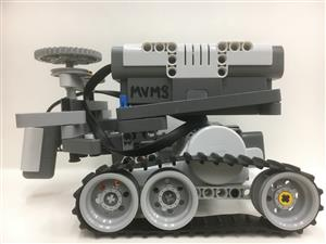 Picture of a Lego Mindstorms Robot.