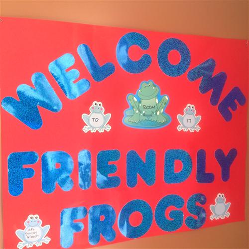 WELCOME FRIENDLY FROGS