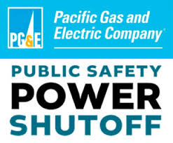PG&E Public Safety Power Shut Off Logo