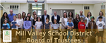 march board meeting highlights photo with students who were recognized by the board