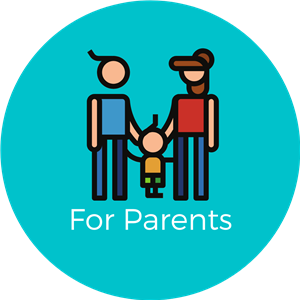 for parents with a graphic of a family